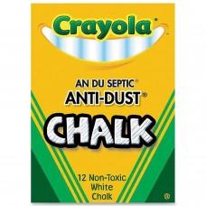 Мел белый Crayola с пониженным выделением пыли, 12 шт.