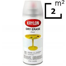 Маркерная краска (маркерное покрытие) Krylon Dry Erase (спрей) , (Белая/Прозрачная)