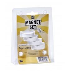 Набор из 4-х ультра-сильных магнитов Super Strong, 37mm