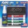 Набор для сухостираемых досок EXPO : 4 маркера, спрей, губка