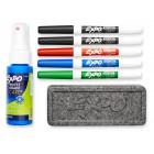 Набор для сухостираемых досок EXPO : 5 маркеров, спрей, губка